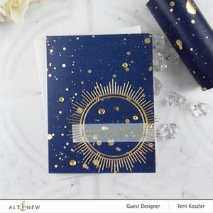 Bilde av Altenew Gold Splatter Navy Washi Tape