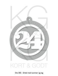 Bilde av Kort og Godt Die 202 - Sirkel med nummer og tag