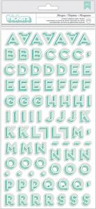 Bilde av American Crafts Thickers Letter Stickers Marquee