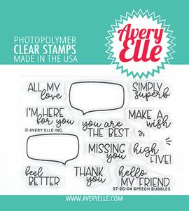 Bilde av Avery Elle Speech Bubbles Clear Stamps