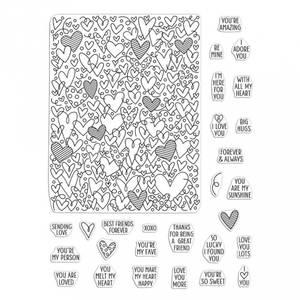 Bilde av Hero Arts All My Heart Peek-A-Boo Parts Stamp Set