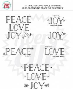 Bilde av Avery Elle Sending Peace Clear Stamps
