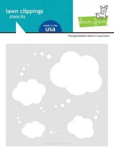 Bilde av Lawn Fawn Thought Bubbles Stencil