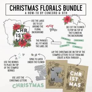 Bilde av Concord & 9th Christmas Florals Stamp Set