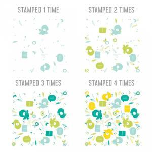 Bilde av Concord & 9th Birdie Talk Turnabout Stamp Set