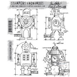 Bilde av Stampers Anonymous Robots Blueprint Stamp Set