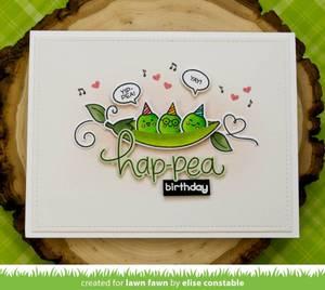 Bilde av Lawn Fawn Be Hap-pea Stamp Set