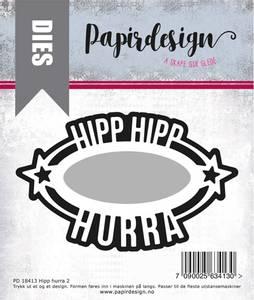Bilde av Papirdesign Hipp hurra 2 dies