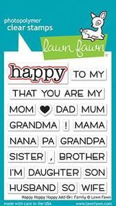 Bilde av Lawn Fawn Happy Happy Happy - Add-On: Family