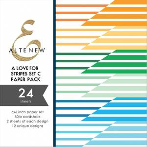 Bilde av Altenew A Love for Stripes Set C Paper Pack