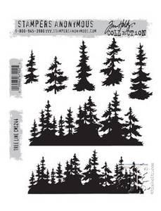 Bilde av Stampers Anonymous Tree Line Stamp Set