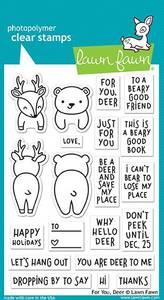 Bilde av Lawn Fawn For You, Deer Stamp Set