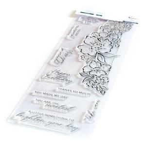 Bilde av Pinkfresh Studio Floral Notes stamp set