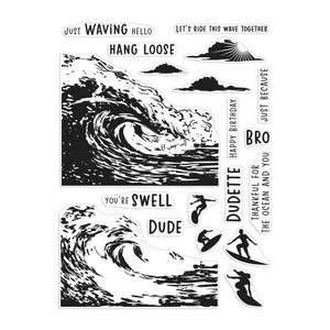 Bilde av Hero Arts Barrel Wave HeroScape Stamp Set