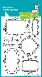 Bilde av Lawn Fawn Flirty Frames Stamp Set