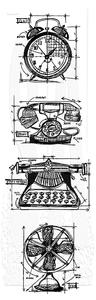 Bilde av Stampers Anonymous Vintage Things Cling Stamp Set