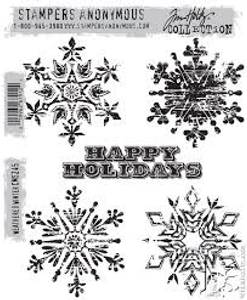 Bilde av Stampers Anonymous Weathered Winter Stamp Set