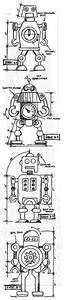 Bilde av Stampers Anonymous Robot Cling Stamp Set