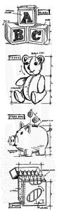 Bilde av Stampers Anonymous Childhood Cling Stamp Set