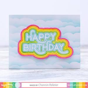 Bilde av Waffle Flower Rainbow Birthday Die