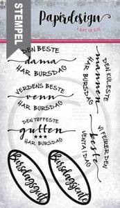 Bilde av Papirdesign Den beste Stempel