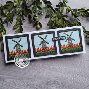 Bilde av Hero Arts Looking Glass Windmill Tulips Dies