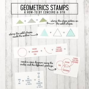 Bilde av Concord & 9th Geometrics Stamp Set