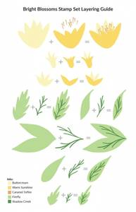 Bilde av Altenew Bright Blossoms Stamp Set