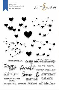 Bilde av Altenew All The Hearts Stamp Set