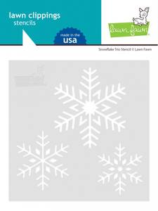 Bilde av Lawn Fawn Snowflake Trio Stencil