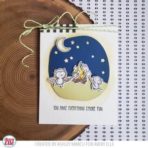 Bilde av Avery Elle Camping Critters Clear Stamps