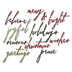Bilde av Sizzix Thinlits Handwritten Holidays dies