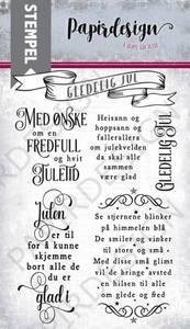 Bilde av Papirdesign Fredfull og hvit jul Stempel