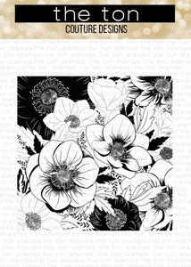 Bilde av The Ton Anemone Garden Cling Background stamp
