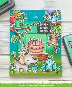 Bilde av Lawn Fawn Birthday Before'n Afters Stamp Set