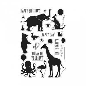 Bilde av Hero Arts Birthday Animals Silhouettes Stamp &