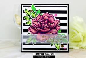 Bilde av The Ton Haute Stripes Cling Background stamp
