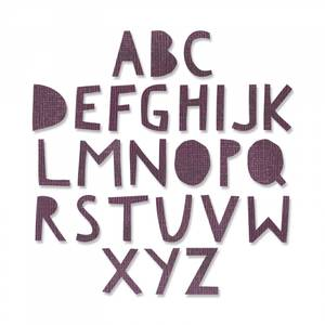 Bilde av Sizzix Thinlits Alphanumeric, Cutout Upper dies