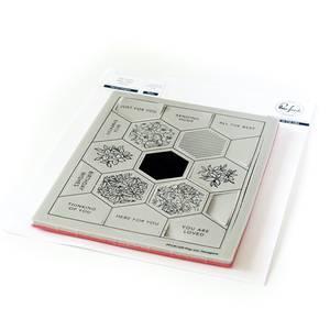 Bilde av Pinkfresh Studio Pop out: Hexagons stamp