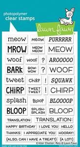 Bilde av Lawn Fawn Critter Chatter: Pets Stamp Set