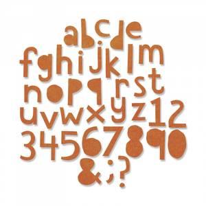 Bilde av Sizzix Thinlits Alphanumeric, Cutout Lower dies
