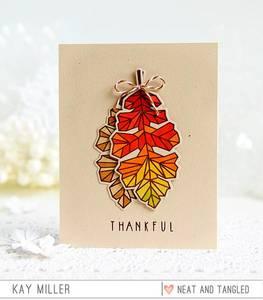 Bilde av Neat & Tangled Oak Leaf Stamp Set