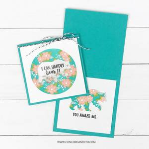 Bilde av Concord & 9th Floral Print Silhouette Stamp Set
