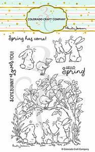 Bilde av 3C/ Anita Jeram - Bunnies & Robin stamp set