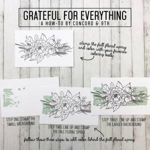 Bilde av Concord & 9th Grateful For Everything Stamp Set