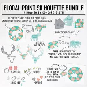 Bilde av Concord & 9th Floral Print Silhouette Dies