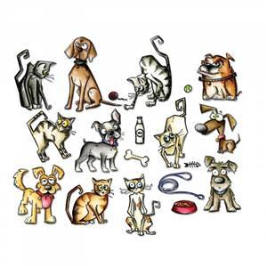 Bilde av Sizzix Framelits Mini Crazy Cats & Dogs dies