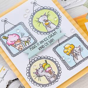 Bilde av 3C/ Anita Jeram - Ice Cream Day mini stamp set