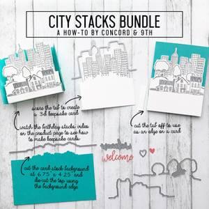 Bilde av Concord & 9th City Stacks Stamp Set