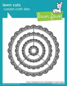 Bilde av Lawn Fawn Fancy Scalloped Circle Stackables Dies